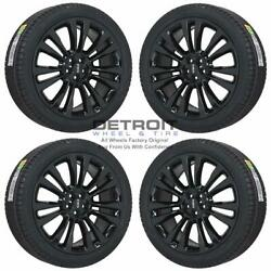 21 Lincoln Mkx Gloss Black Wheels Rims And Tires Oem Set 4 2016-2018 10077