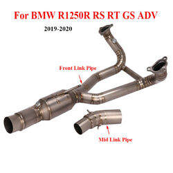 Titanium Header Front Mid Link Pipe For Bmw R1250r Rs Gs Adv Exhaust Connector