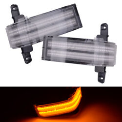 Dual-row Amber Led Strip Tow Side Mirror Marker Light Fit For Chevy Silverado