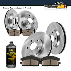 Front 286mm And Rear 276mm Brake Disc Rotors And Ceramic Pads For Bmw 323i E46