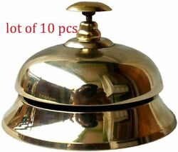4 Call Service Ship Desk Bell Hotel Counter Bell Solid Brass Hotel Counter Bell