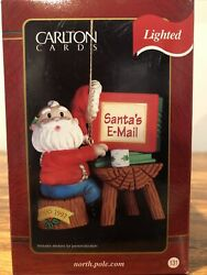 1997 Carlton Cards Santa's Email Lighted Ornament 131 Rudolph Christmas Special