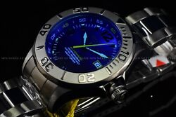 Rare 47mm Pro Diver Blue Glass Automatic Nh35a Gunmetal Polished Watch