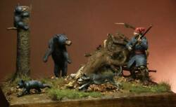 Canadian Militiaman And Wild Animals Painted Toy Soldier Pre-sale | Museum