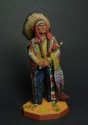Tin Soldier Hand-painted Usa. Sioux Union Chief Sitting Bull 19th Century 54mm