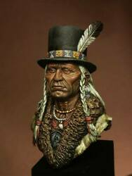 Hidatsa Tribe Old Warrior Native American Painted Toy Bust Pre-sale | Museum
