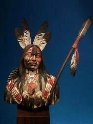 Crow Tribe Warrior Native American Painted Toy Soldier Bust Pre-sale   Museum