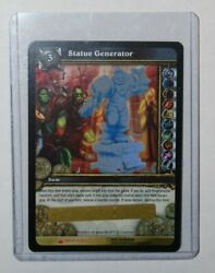 Statue Generator Loot Card World Of Warcraft Tcg Pvp Toy Box Unscratched.
