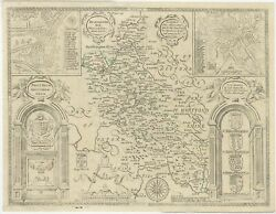 Antique Map Of Buckinghamshire By Overton 1743