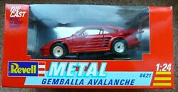 Vintage Revell Metal Gemballa Avalanche 124 Scale Diecast Red Model Car No 8621