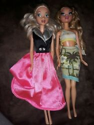 My Scene Barbie Dolls Blond Hair For Ooak Bendable Outfits Toys Jammin Jamaica