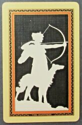 Art Deco Named The Huntress Lady Dog Single Swap Vintage Blank Back Playing Card