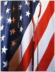 Andres Serrano - Blood On The Flag - Signed Limited Edition Fine Art Print