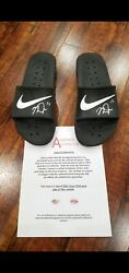 Mike Trout Angels Autographed Signed Worn 2018 Season Locker Room Nike Sandals