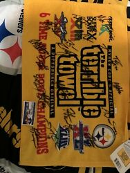 Terrible Towel 6x Superbowl Champs With 19 Autographs. Comes With Coa