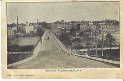 Postcard View From West Side Fulton New York