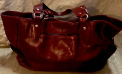 KING RANCH Red Leather Purse Great Large Bag Excellent Condition $250.00