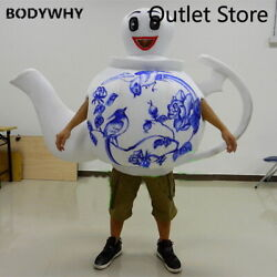 Halloween Cartoon Teapot Mascot Costumes Party Suits Outfits Cosplay Dress Xmas