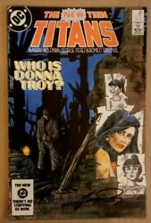 1 New Teen Titans38 Signed By George Perez 1st Print 1984 Donna Troy Origin