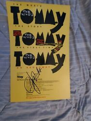 The Who Autographed Tommy Entwistle Daltrey Boxing Style Concert Poster