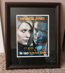 Homeland Framed Photo Signed By Claire Danes And Damian Lewis Coa From Psa/dna