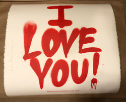 Mr. Brainwash I Love You Terms And Conditions Art Print X/100 S/n Signed