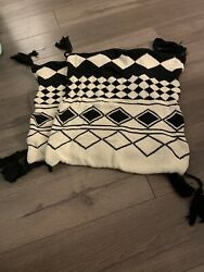 """2 Pack Tassel 18"""" Decorative Pillow Covers"""