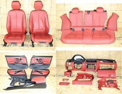All Interior Front Rear Seats Door Panels Console Oem Bmw F36 Heated Coral Red