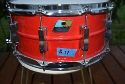 Ludwig Acrolite Firehouse Red 6.5x14 Snare Drum