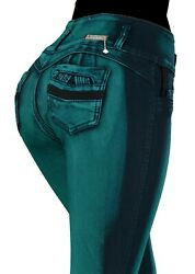 High Waist Stretch Push-up Colombian Style Levanta Cola Skinny Jeans Vr746