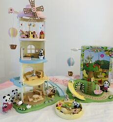 Calico Critters Sylvanian Families Vintage Primrose Baby Windmill Play Park Sets