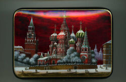 Russian Lacquer Box.moscow. Red Square. Hand Painted.