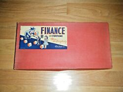 Vintage 1936 Finance And Fortune House And Lot Parker Brothers Board Game Rare Wow