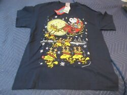 Vintage Snoopy Christmas T Shirt New Old Stock Xl