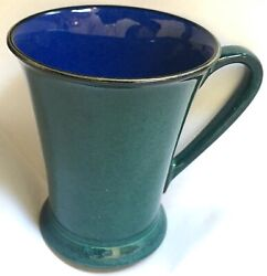 England Denby Gatsby Mug Metz Flared Tapered Green Ext Blue Int Discontinued Nr
