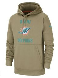 Nike Therma Nfl Miami Dolphins Salute To Service Hoodie At6737-297 Men's Xxl 2xl