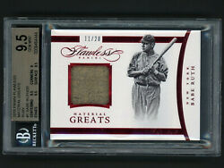 2016 Flawless Material Greats Ruby Babe Ruth Jersey 11/20 Bgs 9.5 Gem Mt Pop 1
