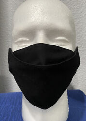 Men's Black Face Mask Double Layer Room to Breathe No Fogging Up Glasses