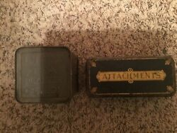 Vintage Lot Of 2 Collectible Metal Tins Lipton Tea And Attachments