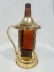 Vintage Glass W/ Wine Bottle Music Box, Swiss Harmony Inc.made In Chicago