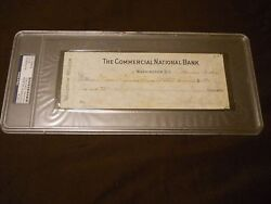 Woodrow Wilson Signed Check Dated Nov. 13 1916 Psa/dna Auto 28th President Rare