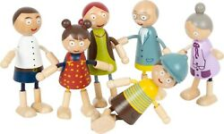 Small Foot Children's Kid's Wood Wooden Bendy Dolls Doll House Family 11804