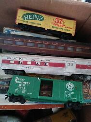 Vintage Old Train Wreck Lot-rusty-parts- Cars+engines Athearn Ulrich Tyco
