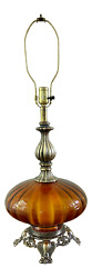 Ef And Ef Industries Amber Glass Table Lamp