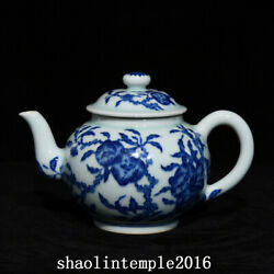 7.2 Ancient China The Qing Dynasty Blue And White Peach Pattern Teapot