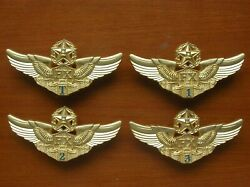 12and039s Series China Pla Air Force Pilot Grade Badge321top Class4 Pcsset