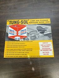 Antique 1940-1958 Tung-sol Lamp And Flasher Service Guide Nos Display Collector