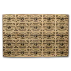 3rd Issue Fractional Currency 3 Cents Xf-40 Pmg Uncut Sheet - Sku224066