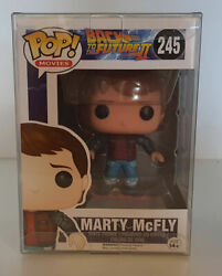 Back To The Future - Marty Mcfly Hoverboard 245 Funko Pop Vinyl Figure +protec