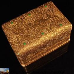 Chinese Dynasty Bronze 24k Gold Gilt Inlay Gem Commemorative Coins Coin Box